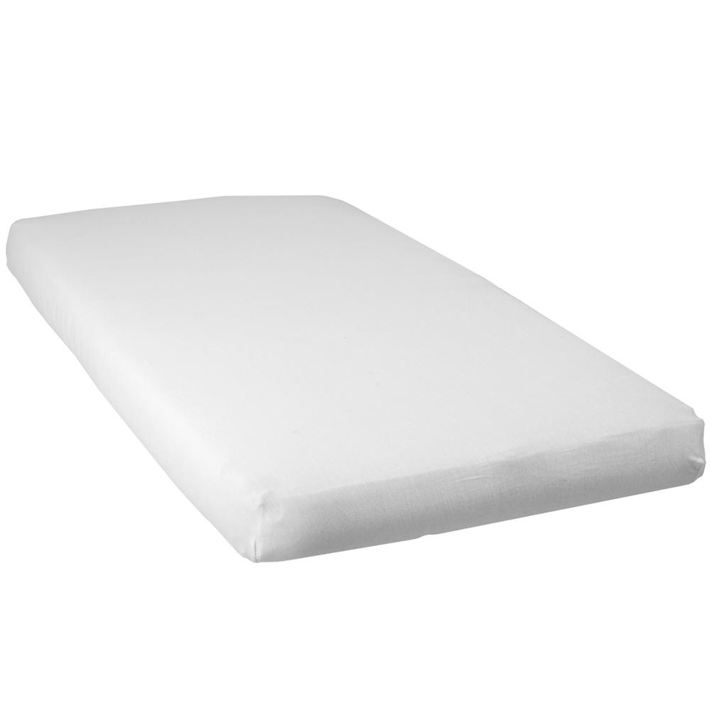 lot de 2 draps housse b b jersey 60 x 120 cm blanc taupe de babycalin sur allob b. Black Bedroom Furniture Sets. Home Design Ideas