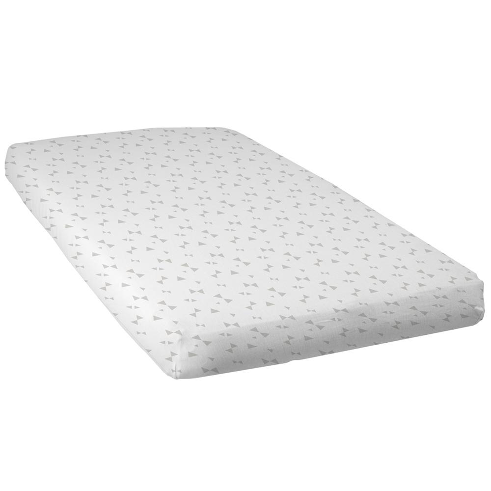 lot de 2 draps housse b b 60x120cm noeuds taupe de babycalin sur allob b. Black Bedroom Furniture Sets. Home Design Ideas