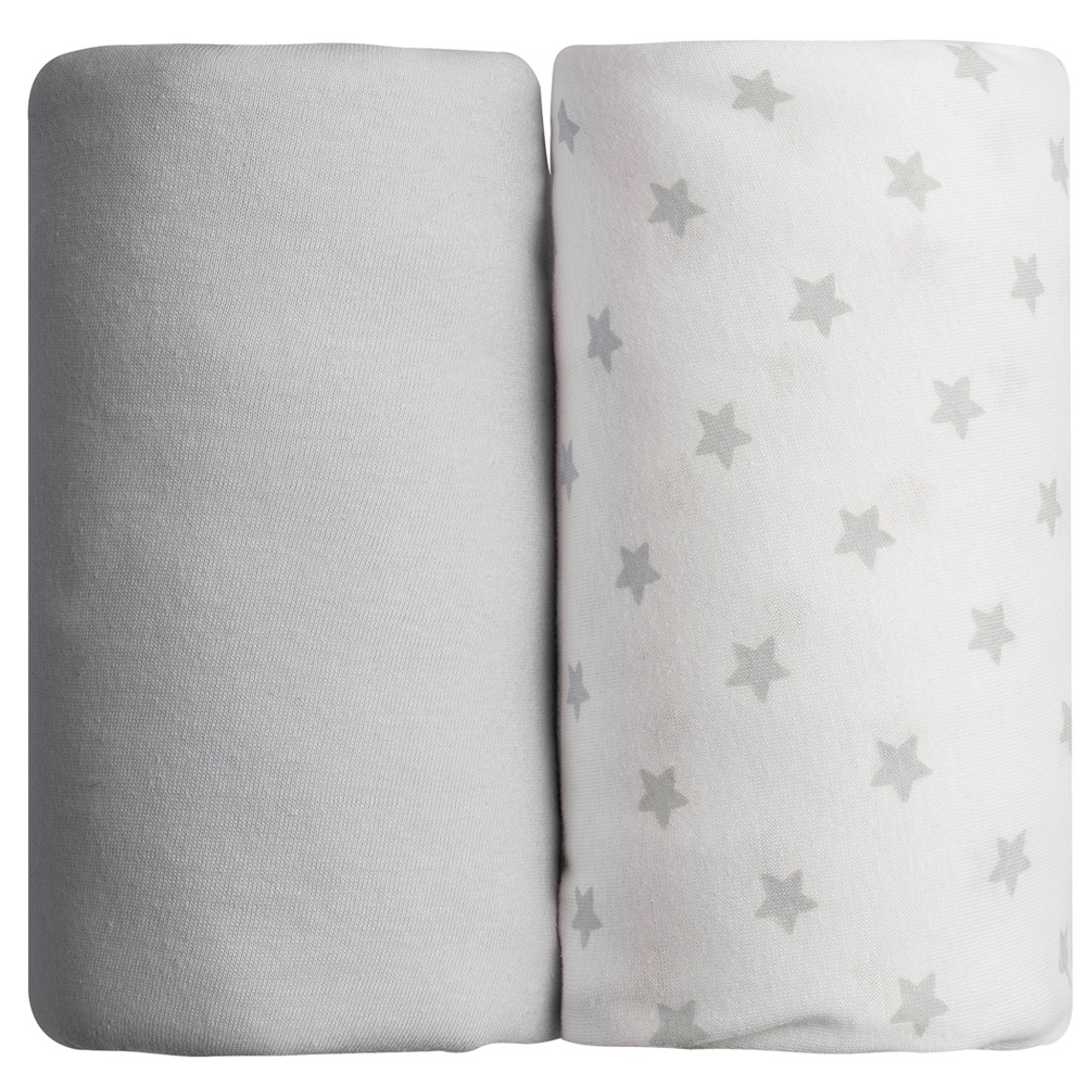 Lot de 2 draps housse 70 x 140 cm toiles grises de babycalin for Des draps housse