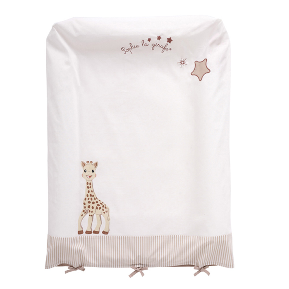 Housse matelas langer sophie la girafe 5 sur allob b for Housse matelas a langer