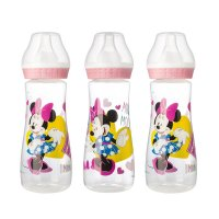 Lot de 3 biberons 250 ml minnie pink girl