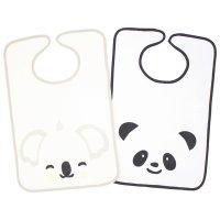 Lot de 2 bavoirs 2 eme âge panda / koala