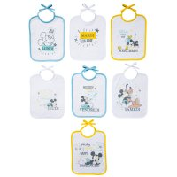 Lot de 7 bavoirs naissance journalier mickey little one