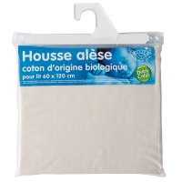 Alèse organic jersey pur coton d'origine bio 60x120 cm écru