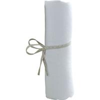 Drap housse bebe 60 x 120 cm blanc
