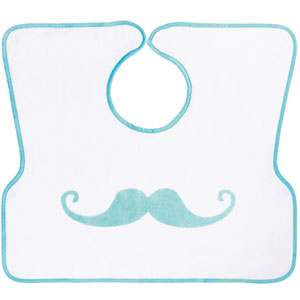 Bavoir 2ème âge imprimé moustache