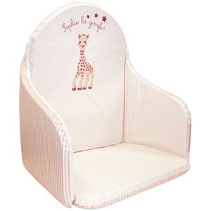 Coussin de chaise sophie la girafe