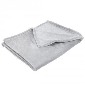 Couverture bébé 75 x 100 cm gris clair
