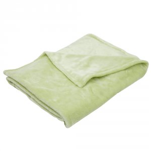 Couverture bébé 75 x 100 cm vert anis