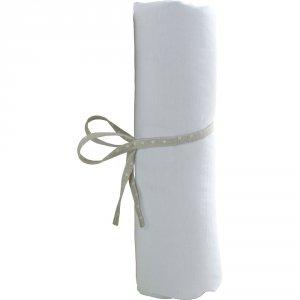 Drap housse bébé jersey 40 x 80 cm blanc