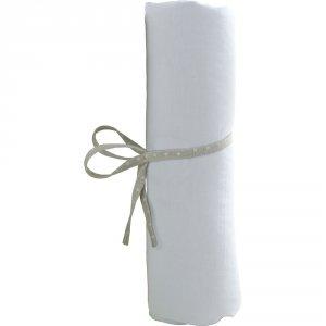 Draps housse bébé 70x140cm blanc