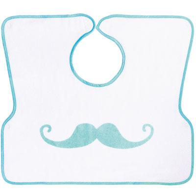 Bavoir 2ème âge imprimé moustache Babycalin