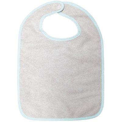 Lot de 2 bavoirs 1 er âge microfibre aqua/gris Babycalin