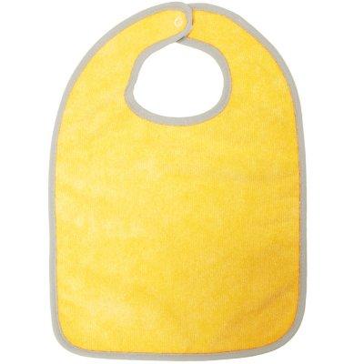 Lot de 2 bavoirs 1 er âge microfibre prune/jaune Babycalin