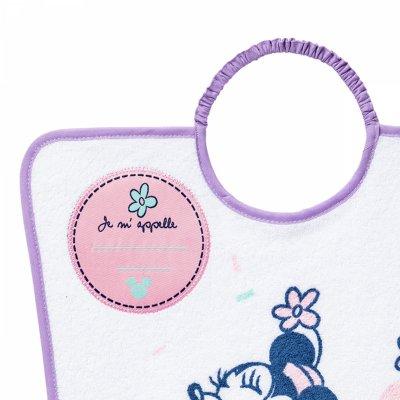 Bavoir maternelle minnie confettis Babycalin
