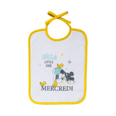 Lot de 7 bavoirs naissance journalier mickey little one Babycalin