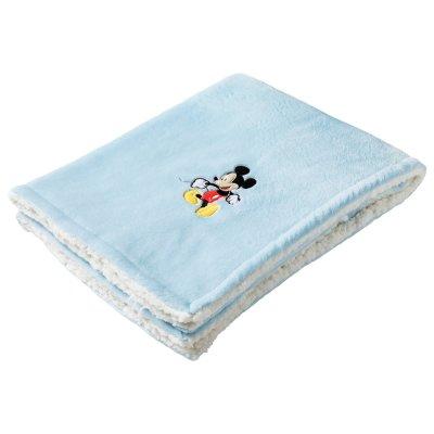 Couverture bi-matière 75 x 100 cm mickey little one Babycalin
