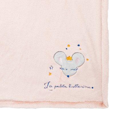 Couverture bi-matière 75 x 100 cm ballerine Babycalin