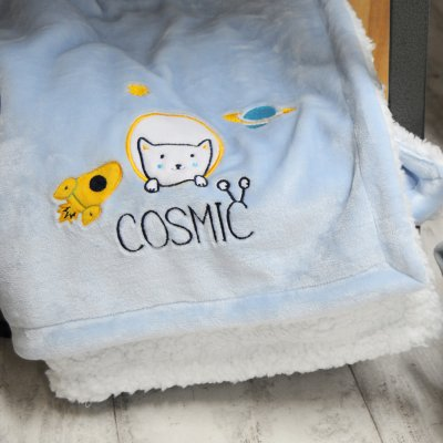 Couverture bi-matière 75 x 100 cm cosmic Babycalin