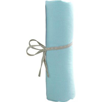 Draps housse bébé 60x120cm turquoise Babycalin