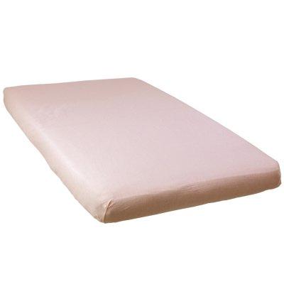Lot de 2 draps housse 70 x 140 cm blanc / rose Babycalin