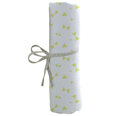 Drap housse bébé 70x140cm noeuds vert Babycalin
