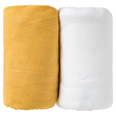 Lot 2 draps housse 70 x 140 cm Babycalin