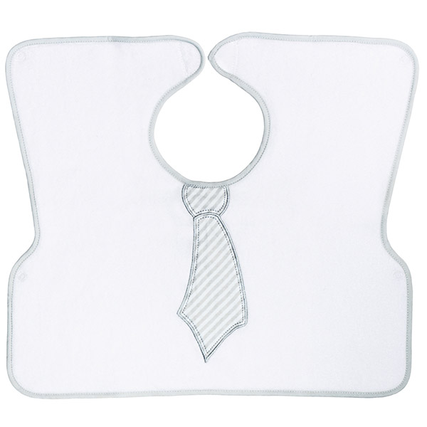 Bavoir 2ème âge imprimé cravate Babycalin