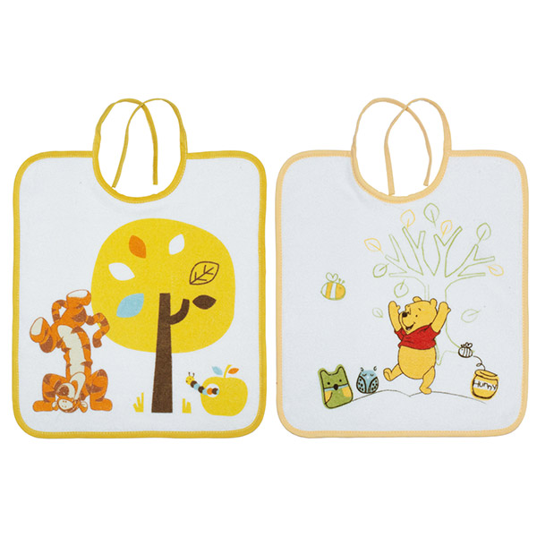 Lot de 2 bavoirs winnie doodle craft Babycalin