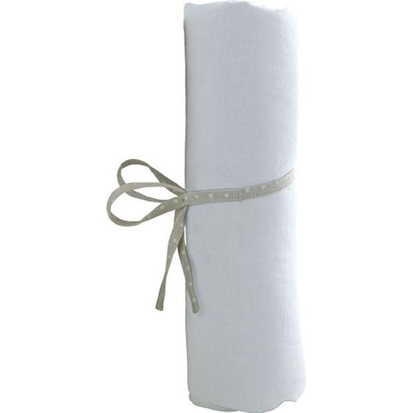 Drap housse 70 x 140 cm blanc Babycalin