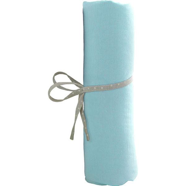 Drap housse bebe 60 x 120 cm turquoise Babycalin