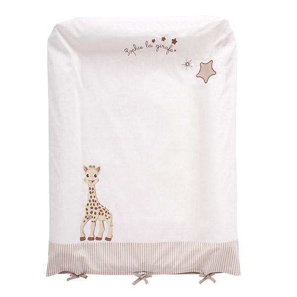 Housse matelas à langer sophie la girafe Babycalin