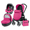 Pack poussette trio book plus hamac pop up bloom pink Peg perego