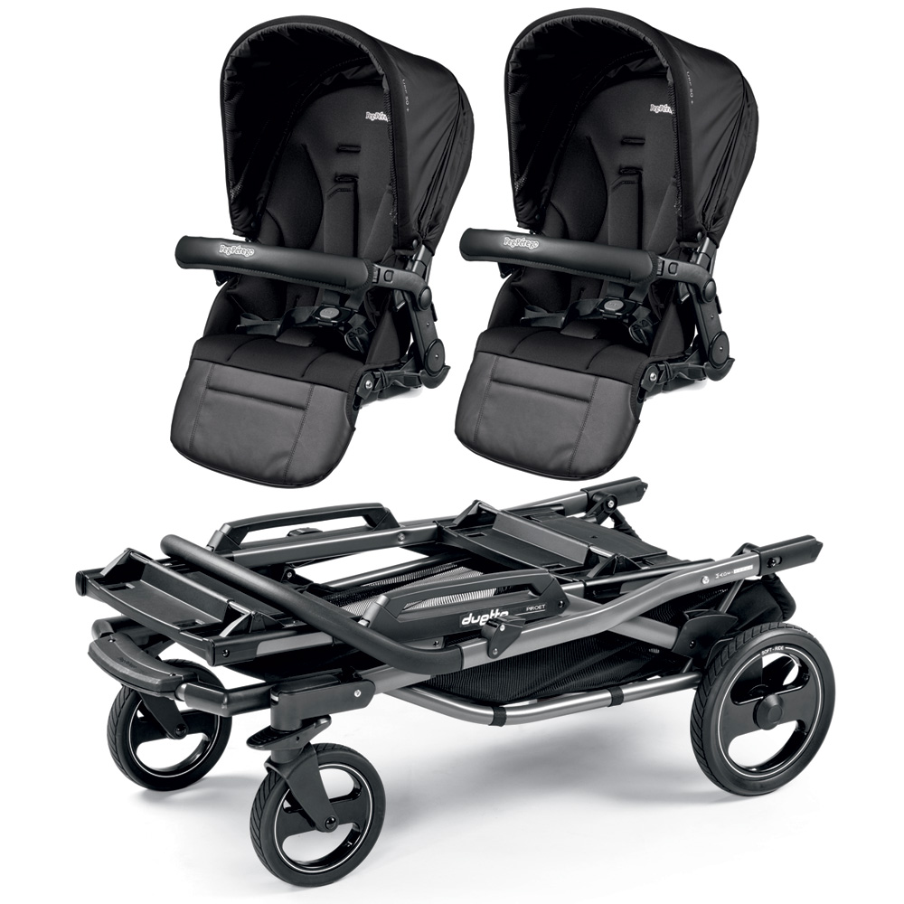 poussette double duette piroet pop up completo breeze noir de peg perego. Black Bedroom Furniture Sets. Home Design Ideas