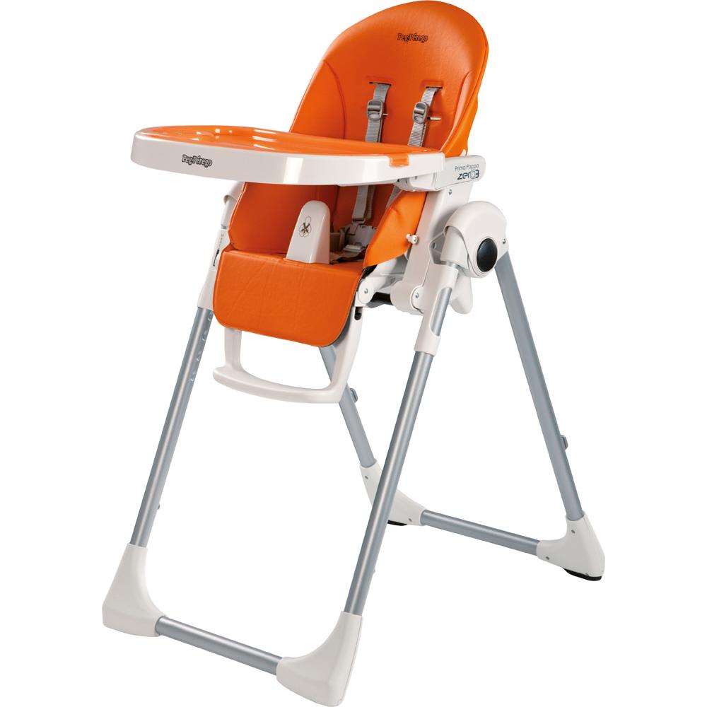 chaise haute r 233 glable prima pappa zero 3 arancia de peg perego chez naturab 233 b 233