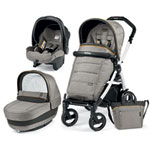 Pack poussette trio book 51 s black/white pop up completo luxe grey