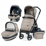 Pack poussette trio book 51 s jet pop up completo luxe beige