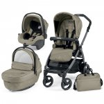 Pack poussette trio book 51 s jet pop up sportivo géo beige