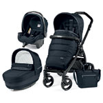 Pack poussette trio book plus pop up completo luxe blue night