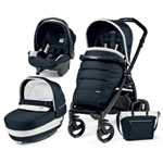 Pack poussette trio book plus pop up completo luxe blue