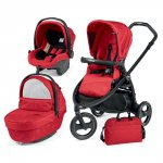 Pack poussette trio book scout 3 roues pop up sportivo géo red