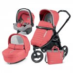 Pack poussette trio book scout 3 roues pop up completo breeze corail