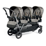 Poussette triple piroet pop up completo luxe grey