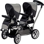 Poussette jumeaux duette pop up atmosphere de Peg perego