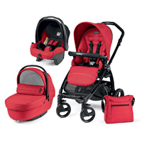 Pack poussette trio book plus sportivo hamac pop up mod red