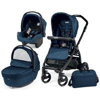 Poussette combiné trio book plus pop up sportivo geo navy
