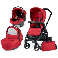 Poussette combiné trio book plus pop up sportivo geo red