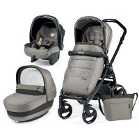 Pack poussette trio book plus pop up completo luxe grey