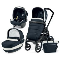 Poussette combiné trio book plus pop up completo luxe blue