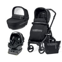 Pack poussette trio book 51 i-size black silver/rock black
